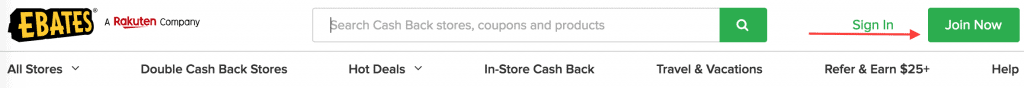 "Screenshot of Ebates ""Join Now"" button"