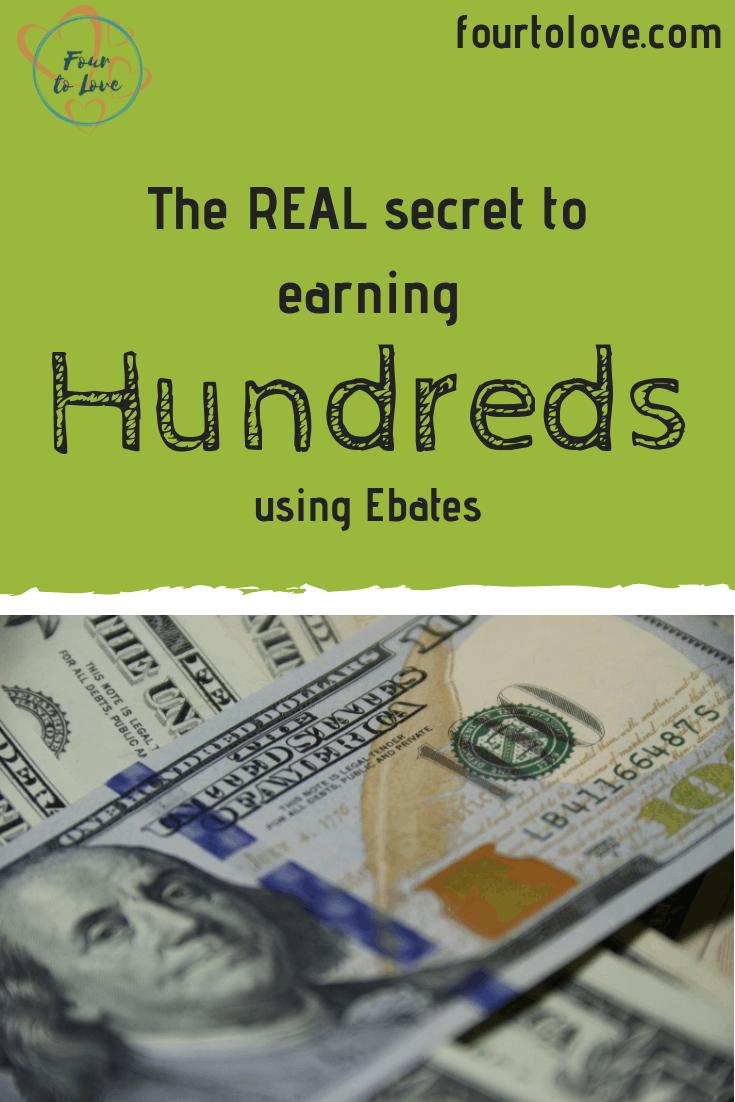 The real secret to earning hundreds using Ebates