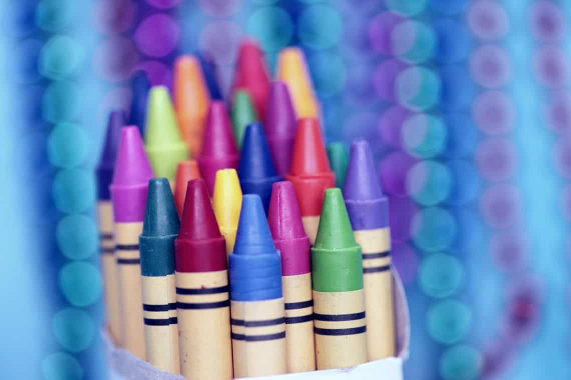 Crayons are one of the essential art toys for kids.
