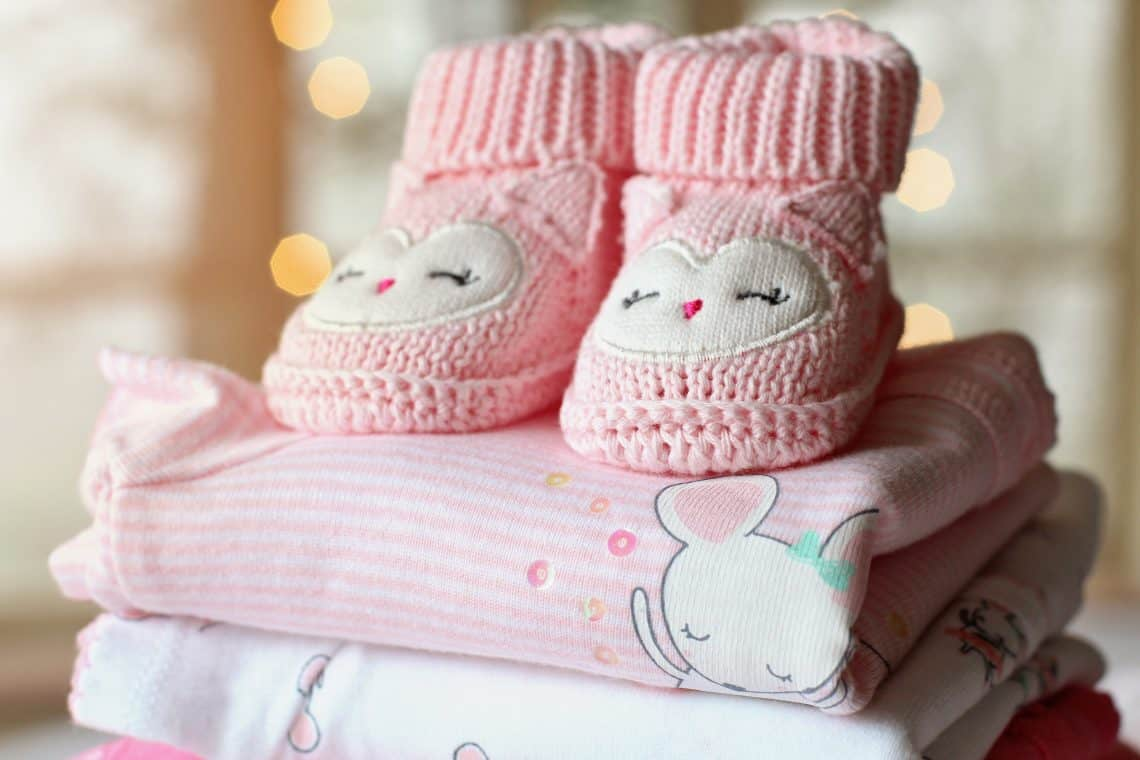 Booties and blankets to welcome fourth baby