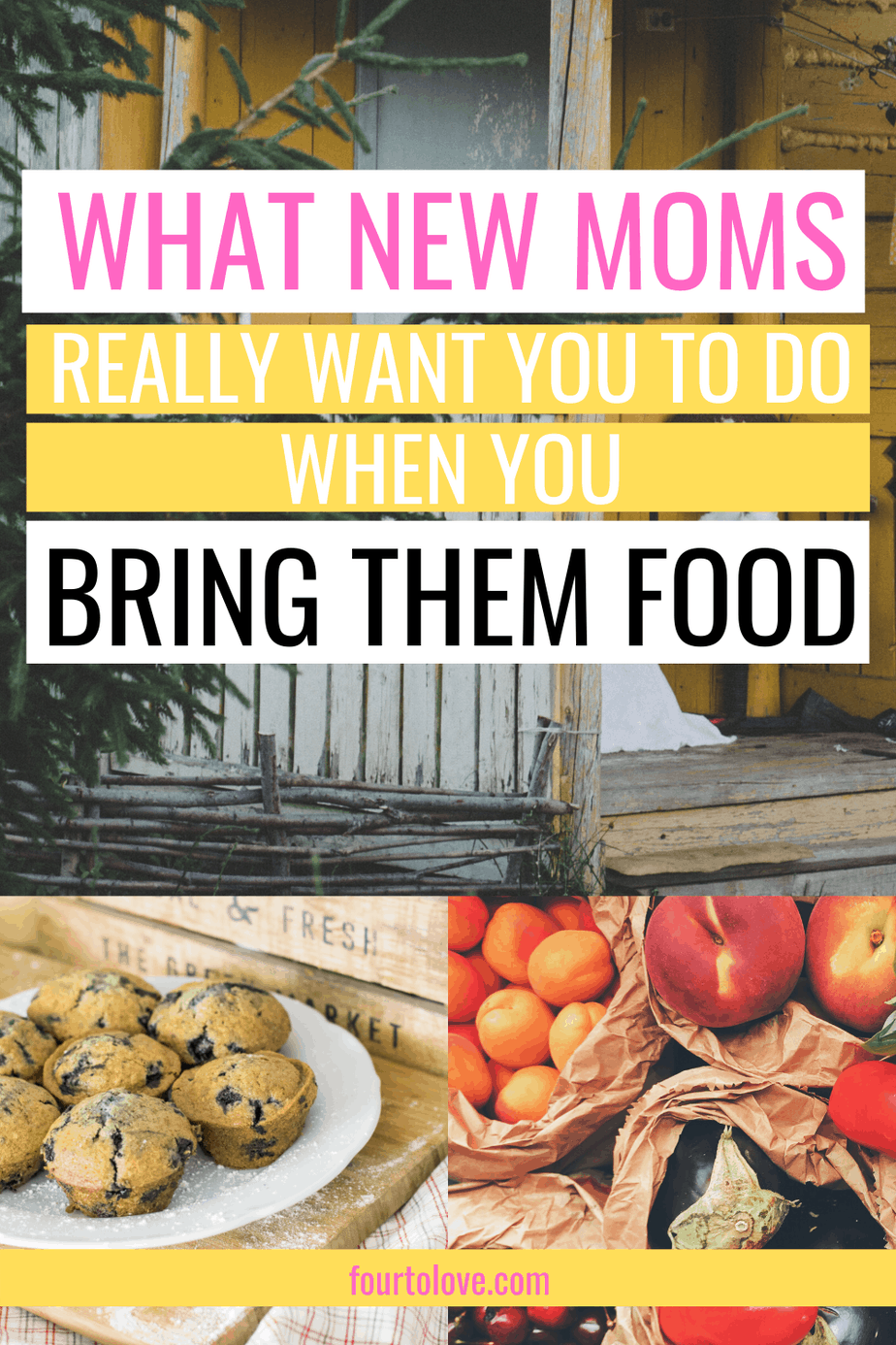 Bringing food to a new mom