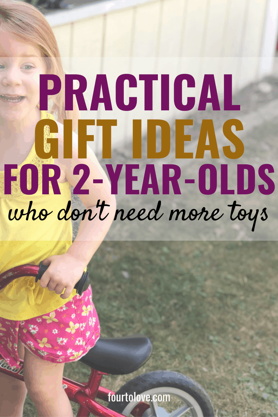 clutter free gift ideas for two year olds