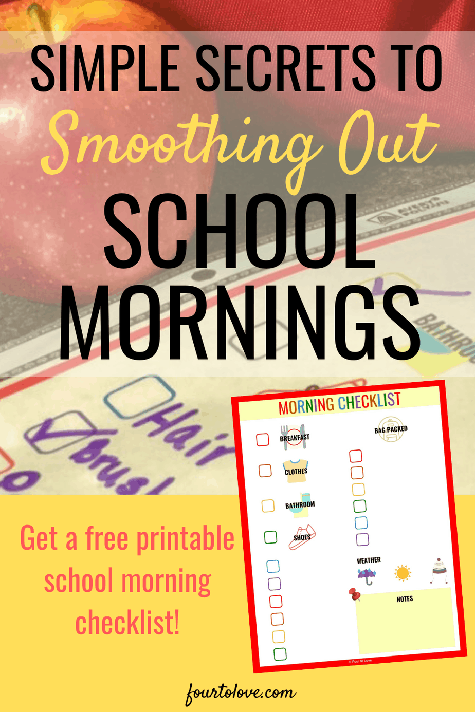 Simple secrets to smoothing out school mornings