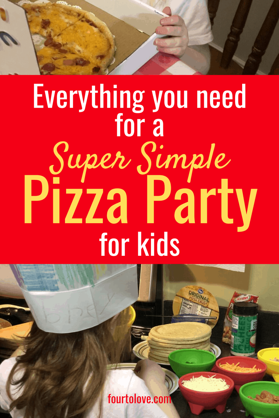 Everything you need for a super simple pizza party for kids