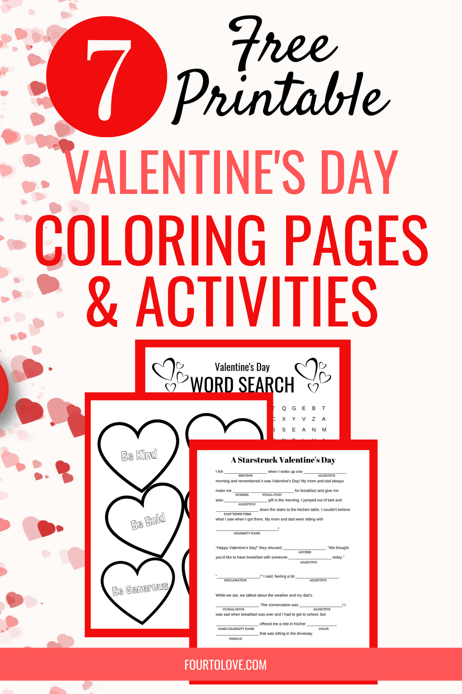 7 free printable Valentine's Day coloring pages and activities