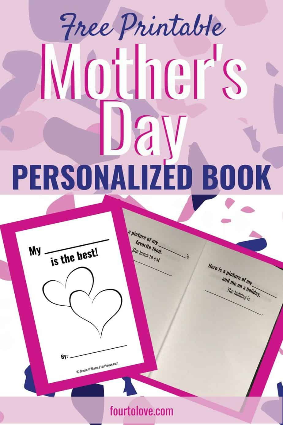Free printable Mother's Day personalized book