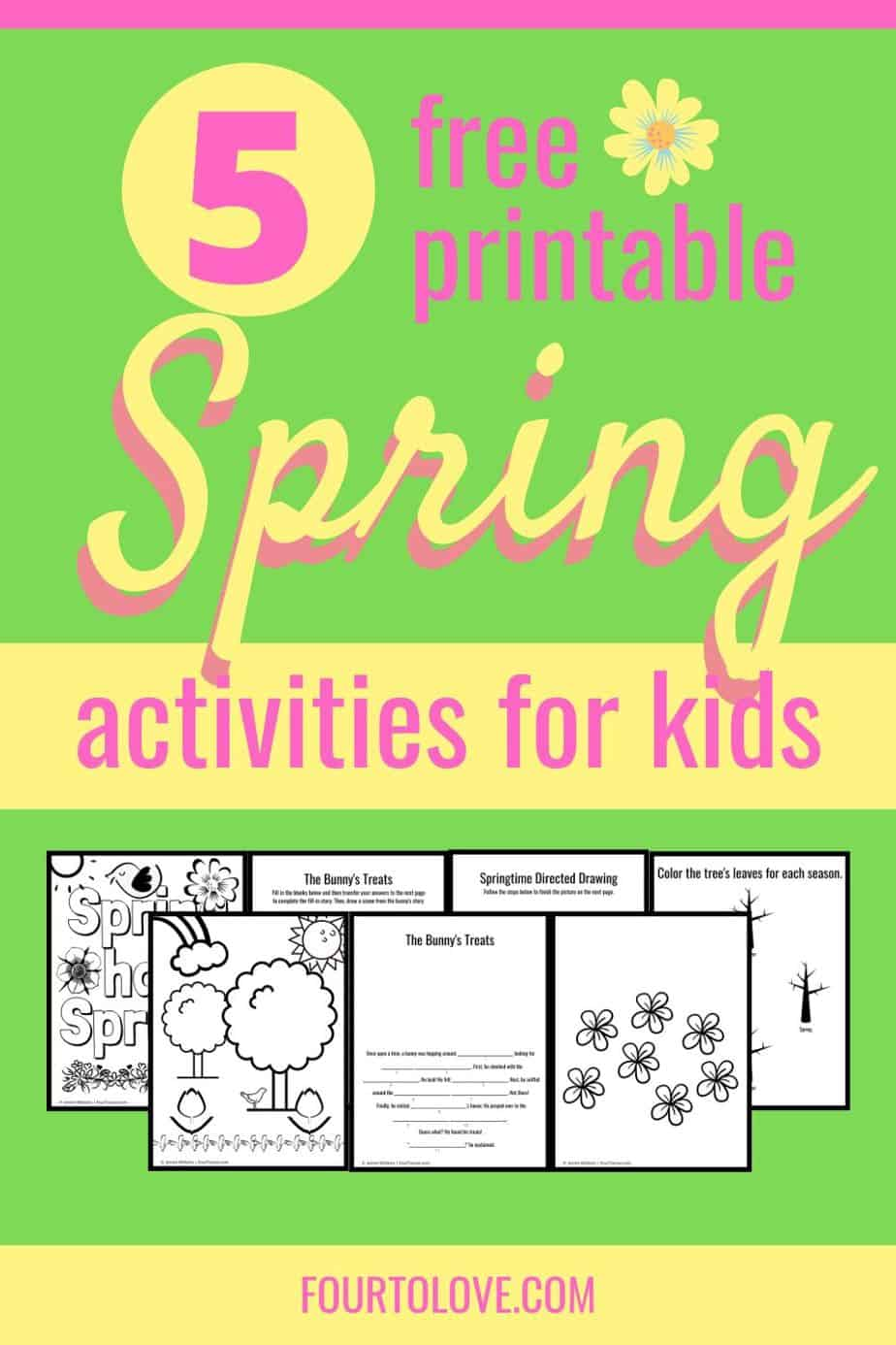 5 free printable spring activities for kids