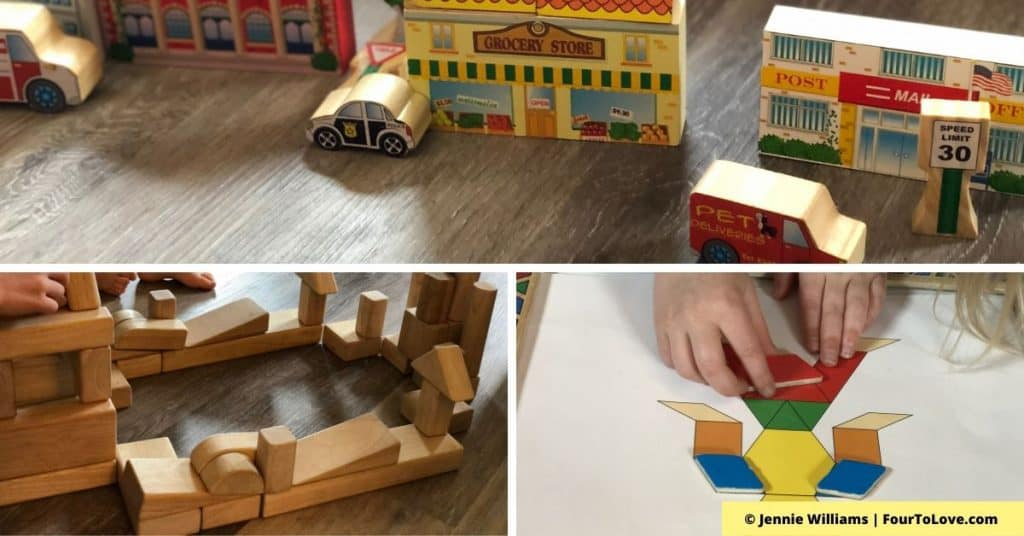 Three examples of open-ended toys